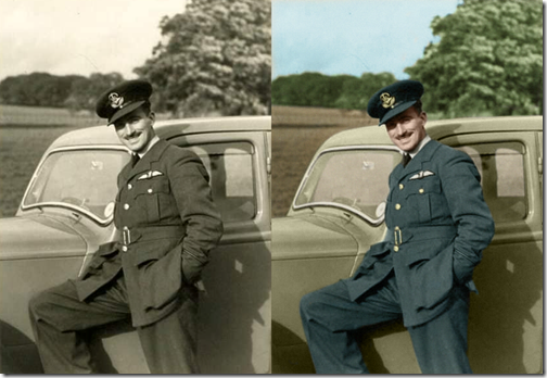 Pilot-Officer-James-Robbinson- Before-and-After
