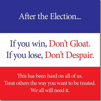 Don't Gloat or Despair
