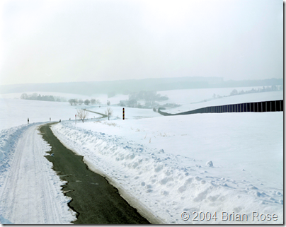 East German Border in Winter
